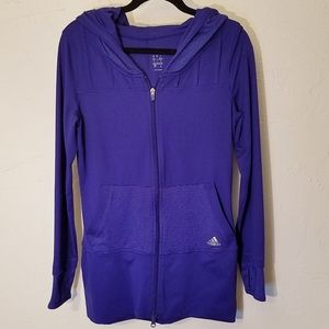 Adidas hoodie zip front with thumb hole